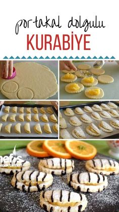 Portakal Dolgulu Kurabiye – Nefis Yemek Tarifleri – How to Make Orange Filled Cookie Recipe? Illustrated explanation of this recipe in the book of people and photos of those who try it are here. How To Make Orange, Filled Cookies, Cheesecake Brownies, Food Articles, Pastry Cake, The Dish, Cookie Recipes, Waffles, Yummy Food
