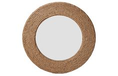 """Quincy 36"""" Rope Wall Mirror, Natural Now: $156.00 Was: $195.00"""