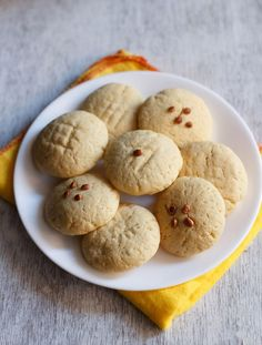 nankhatai recipe for diwali festival. step by step nankhatai recipe. nankhatai is a popular sweet cum snack recipe which is equally liked by kids as well as elders. Dessert Recipes For Kids, Healthy Dessert Recipes, Sweets Recipes, Cookie Recipes, Snack Recipes, Indian Desserts, Indian Sweets, Indian Food Recipes, Punjabi Recipes