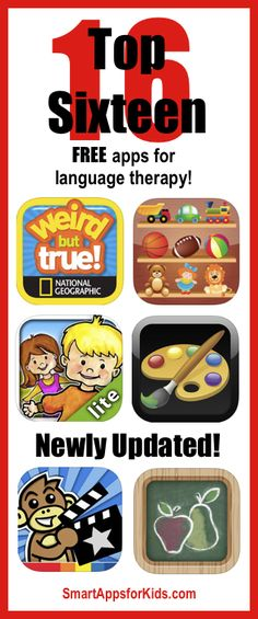 Top FREE apps for language therapy! Speech Language Therapy, Speech Language Pathology, Speech And Language, Speech Therapy Activities, Language Activities, Learning Activities, Kids Learning, Top Free Apps, Top Apps