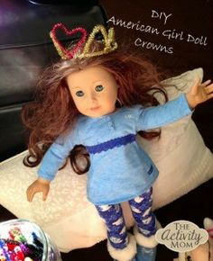 American Girl Doll Play - DIY crowns