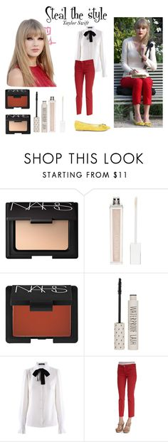 """""""Steal the style Taylor Swift"""" by annafalgren ❤ liked on Polyvore featuring Horace, NARS Cosmetics, Witchery, Topshop, Dolce&Gabbana, Tory Burch, Sole Society, swift, taylor and taylorswift"""