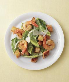 Shrimp Caesar Salad With Homemade Croutons recipe