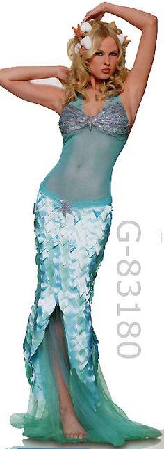 Little Mermaid Skirt Womens Fancy Dress Costume Ariel Sea Creature Adult Hawaii