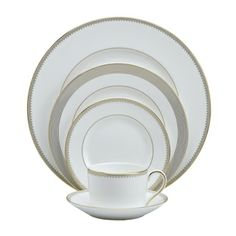 Vera Wang Golden Grosgrain 5-Piece Place Setting - as seen on gossip girl
