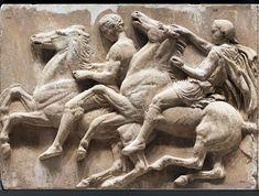 Acropolis Museum, Athens.  A fragment of the Parthenon frieze showing the annual Panathenaic festival procession to the Acropolis.  5th C. BCE.  © JAOS, 2013
