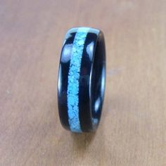 Bentwood Mens Ring Ebony with Celtic Cross Sterling Silver Inlay | GrandPrairieWoodworks - Jewelry on ArtFire