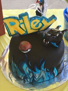 Mega Charizard Cake I Made For My Son Pok 233 Mon Birthday