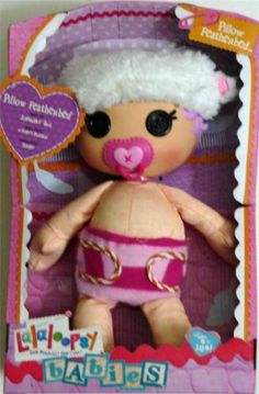 Lalaloopsy Baby Pillow Featherbed Doll NEW Sewn Jan 3 Blanket Bottle Cradle Box