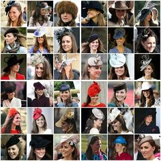 2012 - A Year of the Duchess of Cambridge and her hats  Need to find some replikates of these for the bridal shower!