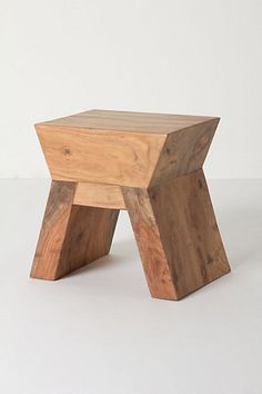Tasman Arched Stool, acacia wood