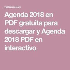 Agenda 2018 en PDF gratuita para descargar y Agenda 2018 PDF en interactivo