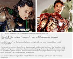 Loki and Tony Stark, the greatest bromance that never was. I never noticed this. Will have to rewatch now!