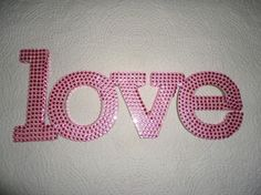 Rhinstone Pink Bling Love Sign $29
