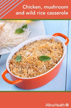 """Chicken, mushroom and wild rice casserole Heart Smart Low Sodium  Chicken and mushrooms are both high in vitamin B3 (niacin), which can help reduce LDL (""""bad"""" cholesterol), increase HDL (""""good"""" cholesterol) and lower triglycerides."""