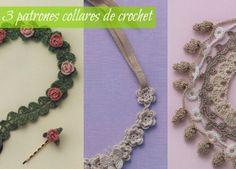 Patrones Crochet: 3 collares de crochet con encanto