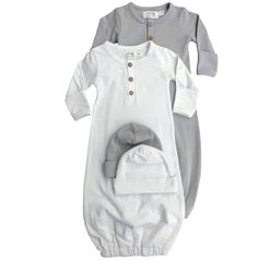 Lucy Lue Organics Exclusive // Layette Bundle - Baby Hat and Snuggle Gown x 2 // Baby boy. Baby girl. Baby clothes. Winter outfits. Organic baby clothes. Modern baby. Baby nursery room ideas. Baby shower ideas. Baby bundles. Baby gear. Baby products. Baby expo. #myshopstyle #shopthelook www.lucylueorganics.com