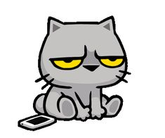 Animated Emojis, Animated Smiley Faces, Cute Baby Cats, Cute Cat Gif, Angry Cat Gif, Gif Photo, Cartoon Gifs, Animation, Cute Comics