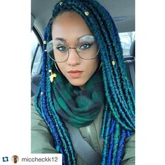 """#Repost from @miccheckk12  Loving my new style done by @renae_bri. They're BOMBA Dreadlocs by @bobbiboss_hair named #bombadreadlocks. I used 6 packs and…"""