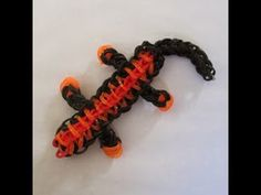 Rainbow Loom LIZARD. Designed and loomed by Claire's Wears. Click photo for YouTube tutorial. 03/02/14.