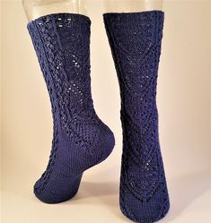 Ravelry: Shield Maidens pattern by Adrienne Fong Shield Maiden, Sock Yarn, Periwinkle, First Photo, Socks, Ravelry, Pairs, Pattern, Inspiration