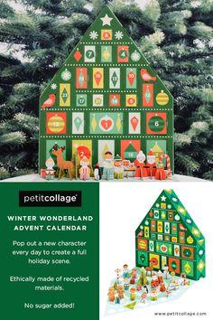 Petit Collage Tree Pop-Out Advent Calendar