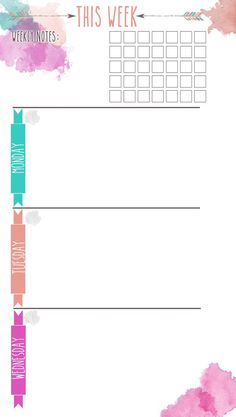 Planner Info Page Printable | Pinterest | Free planner, Planners and ...