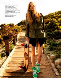 Editorial #Skateboard Fashion Aver Report |  Anne-Marie Van Dijk by Anne Menke for Vogue Netherlands May 2013