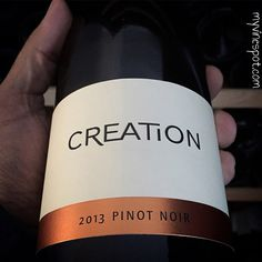 Creation Wines 2013 Pinot Noir (SRP $30): This is a delicious, well-crafted Pinot Noir from the Hemel-en-Aarde Valley in the Cape South Coast region of South Africa. The area's cooler climate produced a supple and expressive ..... South African Wine, Wine Reviews, My Glass, Pinot Noir, Wines, Beverage, Cape, Bottle, Food