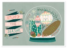 Christmastcard illustrated by Ingrid Wuyster; seen on HappyMakersBlog.com