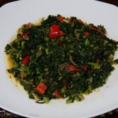 Sukuma Wiki are kale or collard greens thinly sliced and sauteed with ...