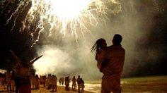 New year's fireworks  Brazil