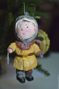 Купить Ватная ёлочная игрушка - Вовка) - вата, ватная игрушка, елочная игрушка, Новый Год