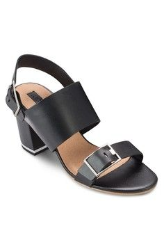 NATALIA Double Buckle Sandals from TOPSHOP in black_1