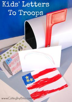 One Million Thanks-  Kids Letters to Troops.  Help your kids show kindness to others!