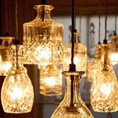 Decanter lights. Gorgeous anywhere but would be LOVELY in a bathroom