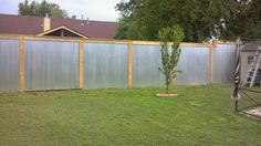 Creations by Wicked Forest: Our Tin Fence Project