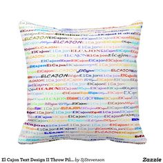 El Cajon Text Design II Throw Pillow