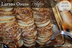 Only three ingredients to make these Lipton Onion Potatoes. But be prepared.  This will be your new favorite recipe!  madefrompinterest.net