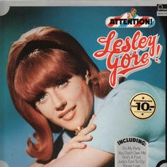While her other songs weren't as commercially successful, they do show that, when she stepped out of the whiny, weeping teenager role, Gore… Leslie Gore, Lp Cover, Record Players, Rainbows, Album Covers, My Music, Girl Group, Bangs, Albums