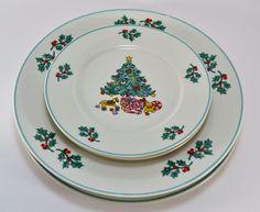 Vintage Spode CHRISTMAS Tree Plate - S3324-A5 - Spode - Christmas ...