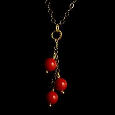 RED CORAL NECKLACE - Handcrafted Coral Jewelry Collection - Jewel of Havana Handcrafted Jewelry