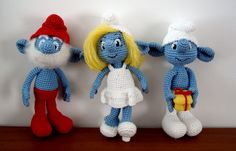 out of my craft room!For entire last week have worked on this Smurf(s) pattern and finally they are ready to be presented!So far only three are finished.Smurfette, Papa Smurf and ClumsyWas fun wor…