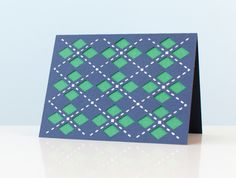 Argyle Card. Make It Now with the Cricut Explore in Cricut Design Space