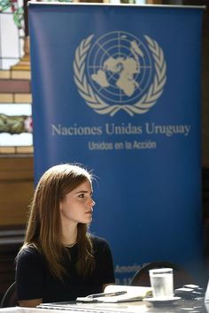 Emma Watson represents the UN, in her role as UN Women Goodwill Ambassador, in Uruguay where she was campaigning for a higher representation of women in politics.