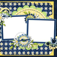 """Photo from album """"Denim And Daisies"""" on Yandex. Scrapbook Background, Scrapbook Cards, Boarders And Frames, Views Album, Mini Albums, Digital Scrapbooking, Daisy, Clip Art, Yandex Disk"""