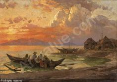 Andreas Achenbach ~ The Dusseldorf School of painting Coastal Curtains, Coastal Rugs, Coastal Bedding, Modern Coastal, Coastal Style, Coastal Decor, Coastal Entryway, Coastal Farmhouse, Coastal Cottage