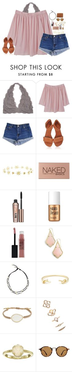 """worked hard on this"" by jazmintorres1 ❤ liked on Polyvore featuring MANGO, Levi's, Charlotte Russe, Urban Decay, Benefit, Maybelline, Kendra Scott, Sole Society, Tai and Forever 21"
