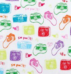 I Love Photo  Cameras  Flannel  1 yard by Sweetbobbinsfabric, $8.00