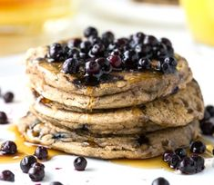 Fluffy Gluten Free Cinnamon Blueberry Pancakes